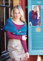 Sirdar Giselle Aran - 9888 Scarf and Shawl Pattern